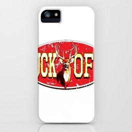 Buck Off Angry Deer iPhone Case