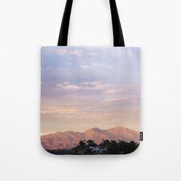 Sunset over Saddleback Mountain Tote Bag