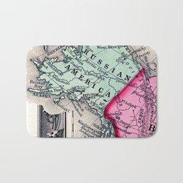 1860 Map, Russian America (Alaska) Bath Mat
