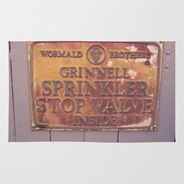 Sprinkler Stop Valve Sign Rug