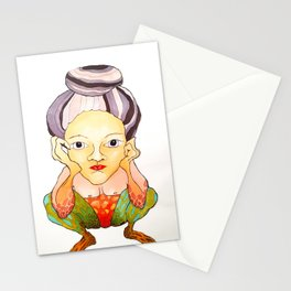 inner old woman Stationery Cards