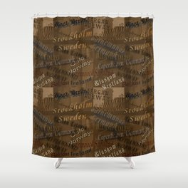 See the World Travel Plans Shower Curtain