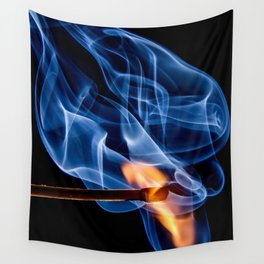 Burning Match | Lit Fire Wall Tapestry
