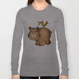 Hippo Po and Birdie Long Sleeve T-shirt