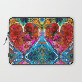 Colorful Heart Art - Everlasting - By Sharon Cummings Laptop Sleeve