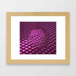 Pink viewpoint Framed Art Print