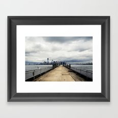 View from Liberty Island Pier Framed Art Print