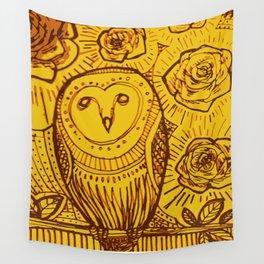 boreal owl Wall Tapestry