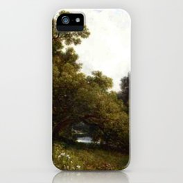 On The Waywayanda Orange County New York 1877 By David Johnson | Reproduction | Romanticism Landscap iPhone Case