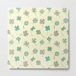 Lucky Four Leaf Clovers Metal Print