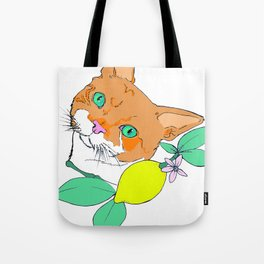 Mr. Oliver the cat Tote Bag