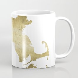 massachusetts gold foil state map Coffee Mug