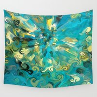 fireworks Wall Tapestries featuring Fireworks by Paul Kimble