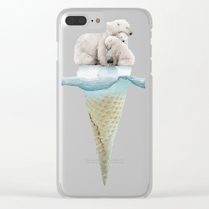 polar ice cream cap 02 Clear iPhone Case