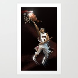 ERVIN X BASKETBALL Art Print