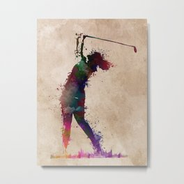 Golf player art 2 Metal Print