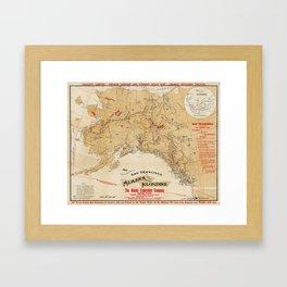 Map of Alaska 1898 Framed Art Print