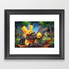 Cosplay Buddies Framed Art Print