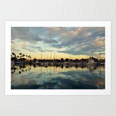 Shoreline Village Marina Art Print