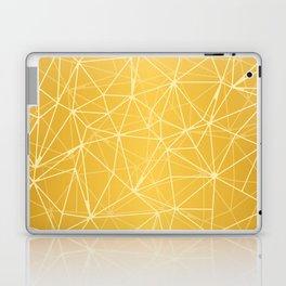 Mosaic Triangles Repeat Seamless Pattern gold Laptop & iPad Skin