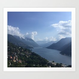 Serenity at Lake Como Art Print
