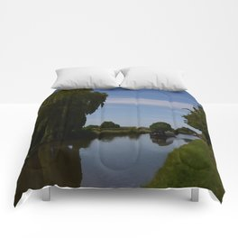 English Canal Scene Comforters