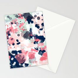Lola - Painted abstract trendy color palette minimal decor nursery home Stationery Cards