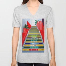 Rio de Janeiro, Selaron stairs Unisex V-Neck