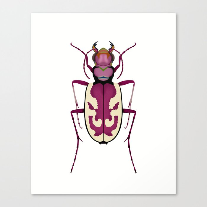 Blowout Tiger Beetle Canvas Print