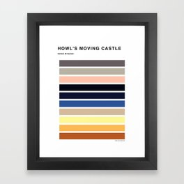 The colors of - Howl's moving castle Framed Art Print