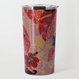 On Fire Kona Tropical Floral Travel Mug