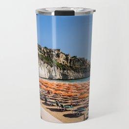 Beach of Vieste, Puglia, Italy Travel Mug