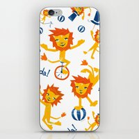 lions iPhone & iPod Skins featuring Lions by Kendra Shedenhelm