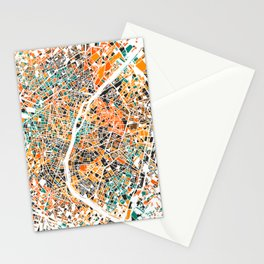 Paris mosaic map #3 Stationery Cards