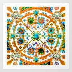 Mandala Flower Art Print