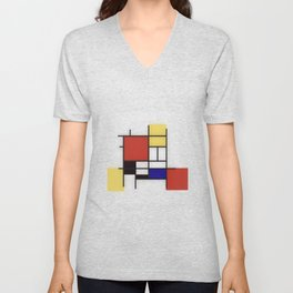 Piet Mondrian Unisex V-Neck