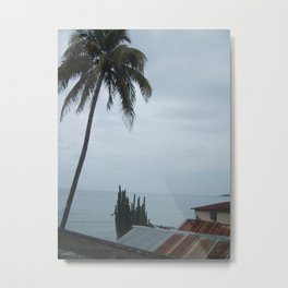 A Haitian Life by the Sea Metal Print