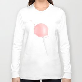Splashed Pink Lollipop Long Sleeve T-shirt