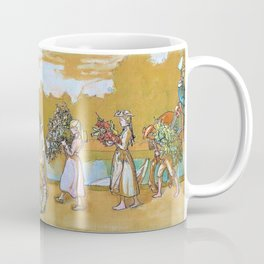 Outdoors Blows The Summer Wind - Carl Larsson Coffee Mug