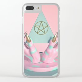 Idle Hands Clear iPhone Case