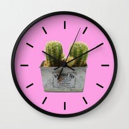 Twin Cactus Wall Clock