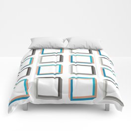 Impossible shapes alternating pattern. Comforters