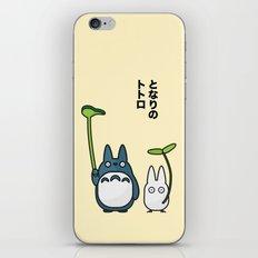 Chu & Chibi Totoro Pop Art - Beige Version iPhone & iPod Skin