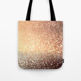 Cozy Copper Espresso Brown Ombre Autumnal Mermaid Glitter Tote Bag