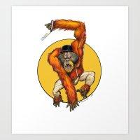 Clockwork Orangutan Art Print