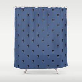 JoJo - Bruno Bucciarati Pattern [Blue Ver.] Shower Curtain