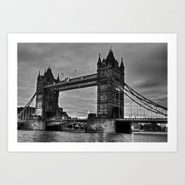 Tower bridge in black and white. Art Print