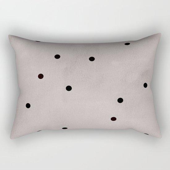 Black dots Rectangular Pillow