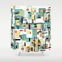 mod Shower Curtains featuring Mod by Tina Carroll