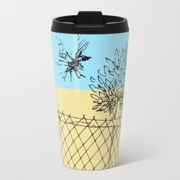 Bird Fence - C Travel Mug